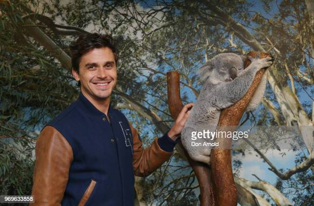 Antoni Porowski from Netflix's Queer Eye visits Featherdale Wildlife Park on June 8 2018 in Sydney Australia