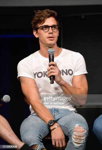 Antoni Porowski speaks onstage during attends Netflix's Queer Eye and GLSEN event at NeueHouse Hollywood on August 12 2018 in Hollywood California