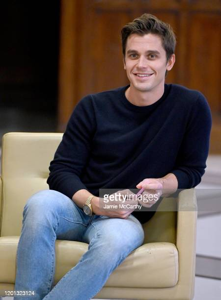 Antoni Porowski speaks with LGBTQ student leaders In NYC at the Humanities Preparatory Academy on January 22, 2020 in New York City.