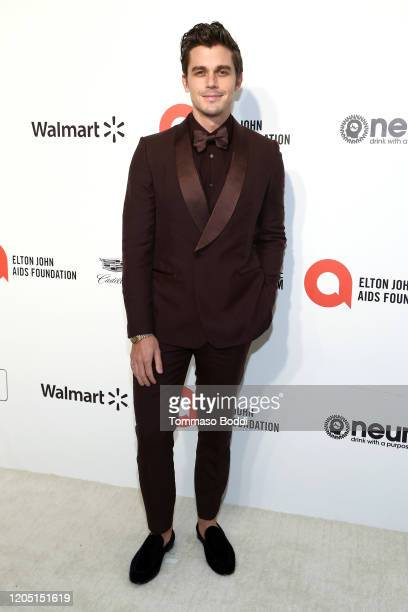Antoni Porowski walks the red carpet at the Elton John AIDS Foundation Academy Awards Viewing Party on February 09 2020 in Los Angeles California