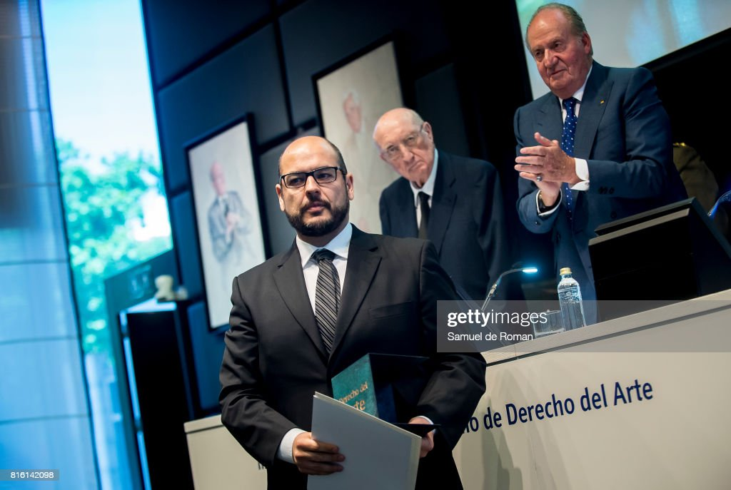 Antoni Rubi Puig receives Rodrigo Uria Meruedano award during the Rodrigo Uria Meruedano Tribute on July 17, 2017 in Madrid, Spain.