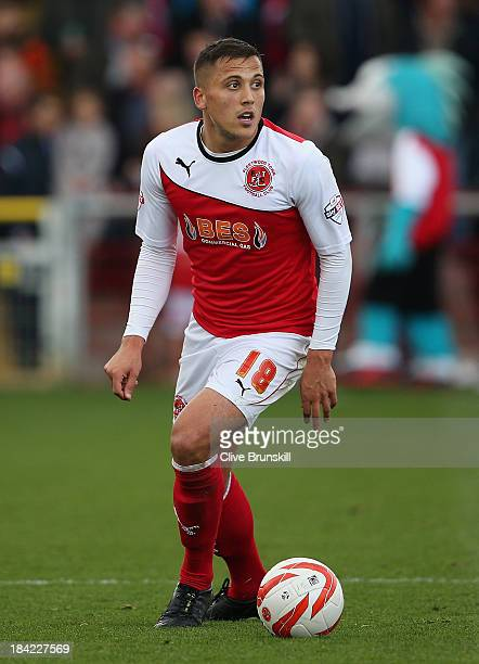 Antoni Sarcevic of Fleetwood Town in action during the Sky Bet League Two match between Fleetwood Town and Chesterfield at Highbury Stadium on...