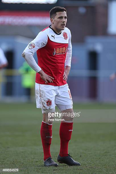 Antoni Sarcevic of Fleetwood Town in action during the Sky Bet League Two match between Fleetwood Town and Northampton Town at Highbury Stadium on...