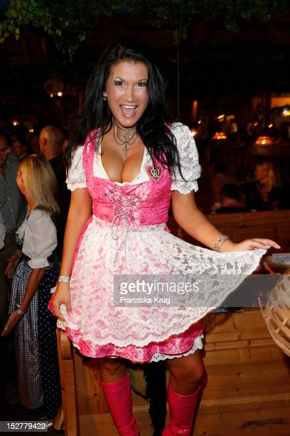 Antonia aus Tirol attends the 'Goldstar TV Wiesn' as part of the Oktoberfest beer festival at Weinzelt on September 25, 2012 in Munich, Germany.