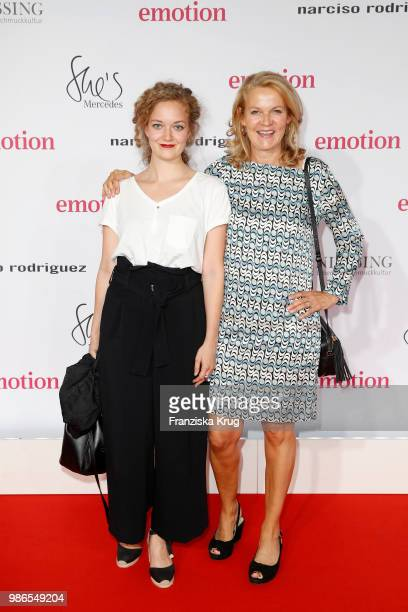 Antonia Aust and her mother Katrin Hinrichs-Aust attend the Emotion Award at Curiohaus on June 28, 2018 in Hamburg, Germany.