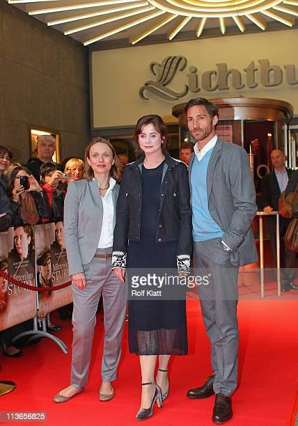 Antonia Axenova Emily Watson and Benjamin Sadler attend the Germany premiere of' Within the Whirlwind' on May 4 2011 in Essen Germany