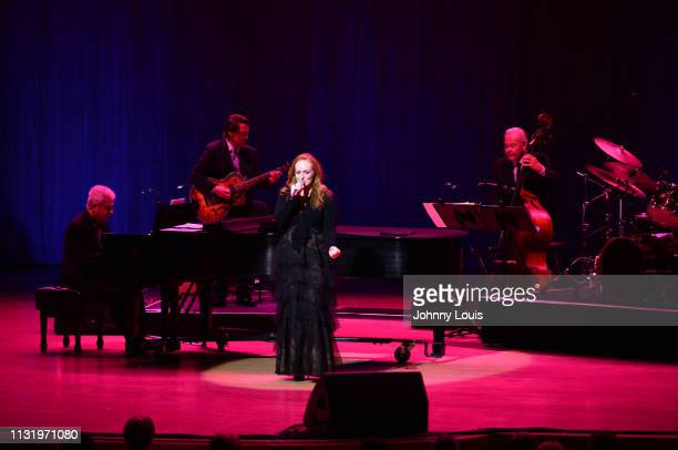 Antonia Bennett performs on stage as the open act for her father and quartet band Tom Adair Gray Sargent Marshall Wood and Harold Jones at Adrienne...