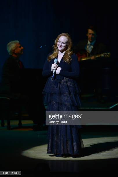 Antonia Bennett performs on stage as the open act for her father at Adrienne Arsht Center for the Performing Arts on March 21 2019 in Miami Florida