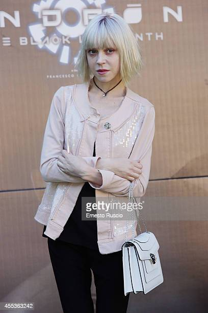 Antonia Campbell Hughes attends the 'Andron The Black Labyrinth' Photocall at La Casa Del Cinema on September 13 2014 in Rome Italy