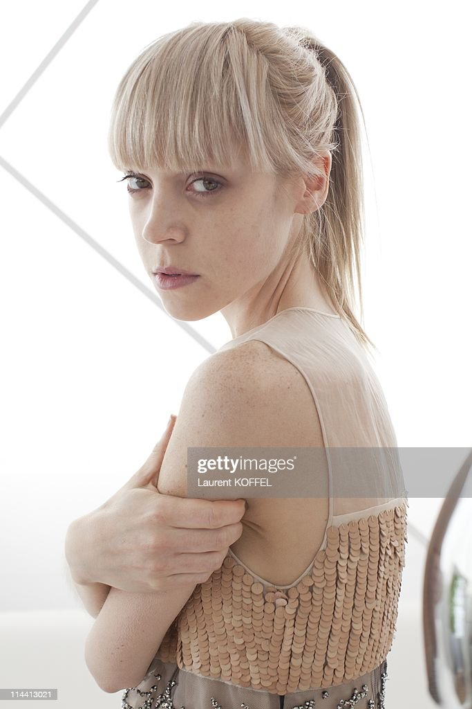 Antonia Campbell-Hughes, Actress of the movie 'The Other Side of Sleep' poses on May 13, 2011 in Cannes, France.