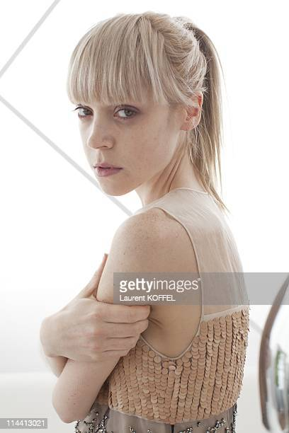 Antonia CampbellHughes Actress of the movie 'The Other Side of Sleep' poses on May 13 2011 in Cannes France