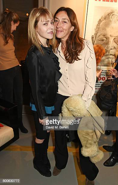 Antonia CampbellHughes and Martina Amati attend the Bella Freud store launch in Marylebone on December 9 2015 in London England