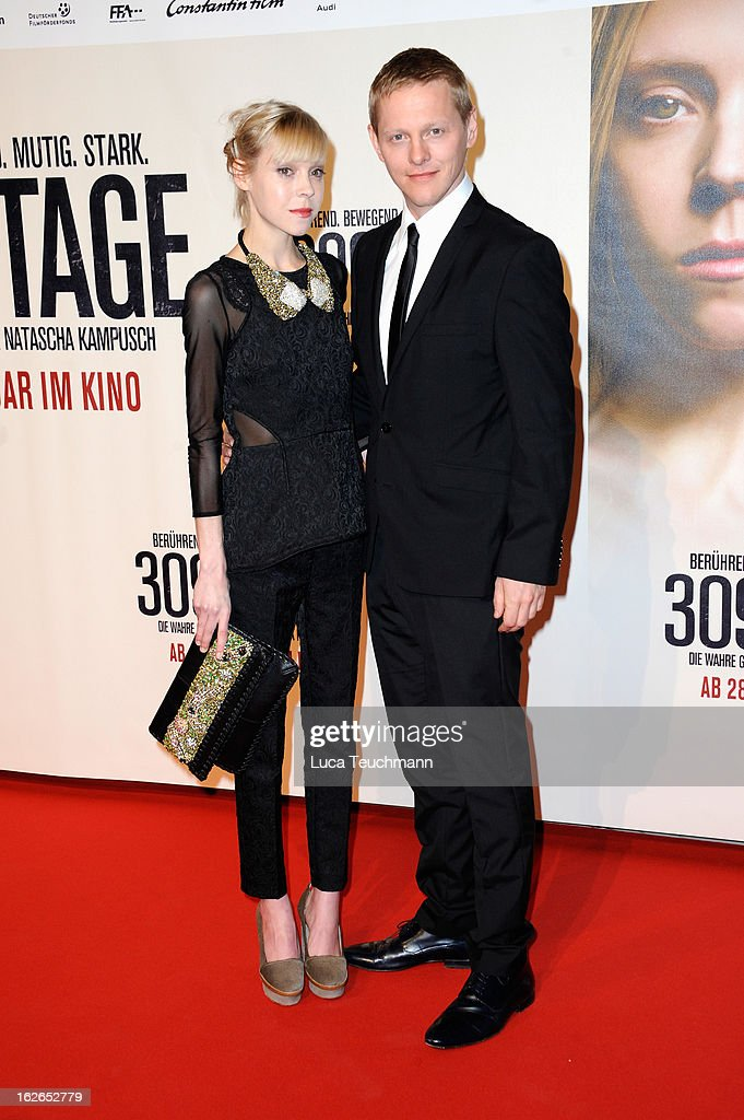 Antonia Campbell-Hughes and Thure Lindhardt attend the '3096 Tage' World Premiere at Cineplexx Wienerberg on February 25, 2013 in Vienna, Austria.