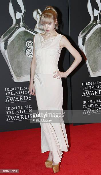 Antonia CampbellHughes arrives at Annual Irish Film Television Awards at Convention Centre Dublin on February 11 2012 in Dublin Ireland
