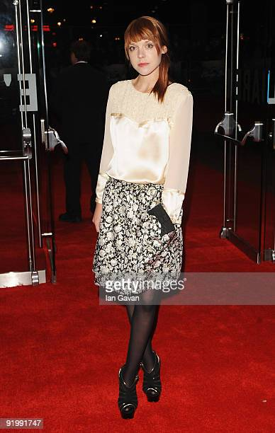 Antonia CampbellHughes arrives for the premiere of 'Bright Star' during the Times BFI 53rd London Film Festival at the Odeon Leicester Square on...