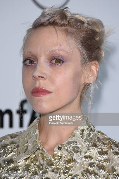 Antonia CampbellHughes attends amfAR Milano 2014 as a part of Milan Fashion Week Womenswear Spring/Summer 2015 on September 20 2014 in Milan Italy