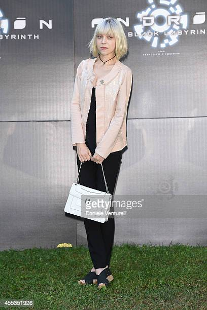 Antonia CampbellHughes attends press conference of 'ANDRON THE BLACK LABYRINTH' by AMBI Pictures at Casa del Cinema on September 13 2014 in Rome Italy