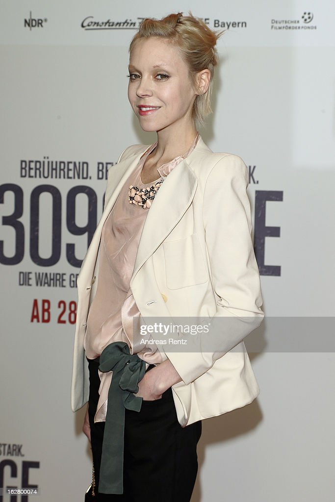 Antonia Campbell-Hughes attends the '3096 Tage' Berlin Premiere at CineStar on February 27, 2013 in Berlin, Germany.