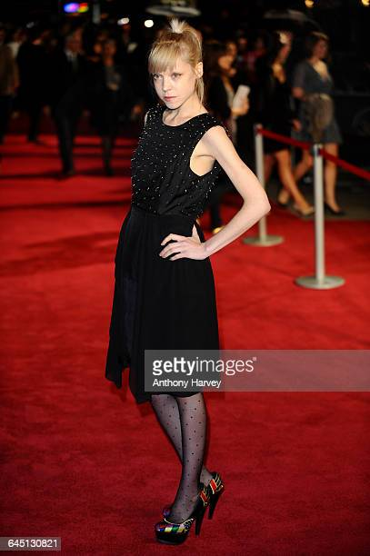 Antonia CampbellHughes attends the 360 Premiere during the 55th BFI London Film Festival on October 12 2011 at the Odeon Cinema Leicester Square in...