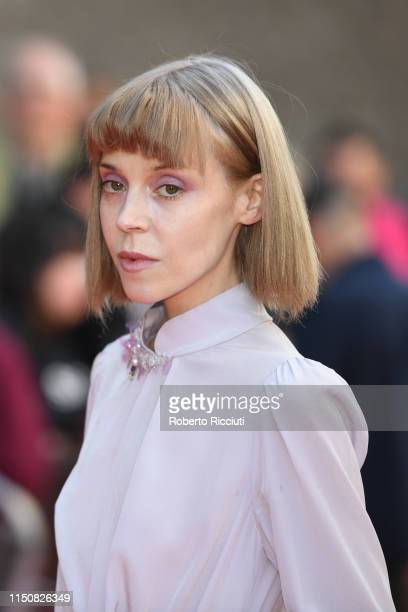 Antonia CampbellHughes attends the European premiere of Boyz In The Wood and opening night gala of the 73rd Edinburgh International Film Festival at...