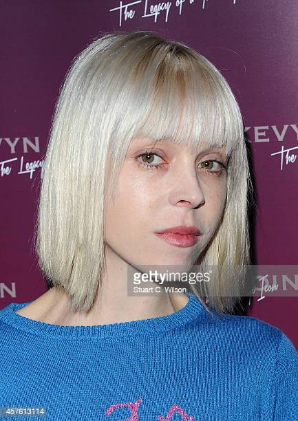 Antonia CampbellHughes attends the launch of a new collaboration between Space NK Kevyn Aucoin on October 21 2014 in London England