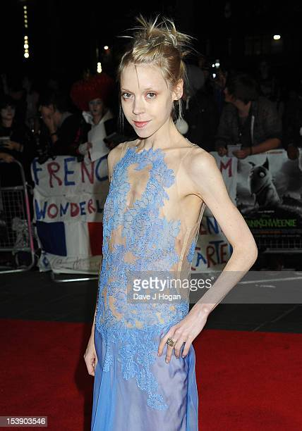 Antonia CampbellHughes attends the premiere of 'Frankenweenie 3D' which opens the 56th BFI London Film Festival at the Odeon Leicester Square on...