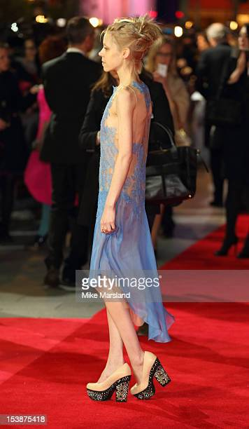 Antonia CampbellHughes attends the Premiere of 'Frankenweenie' at the opening of the BFI London Film Festival at Odeon Leicester Square on October 10...