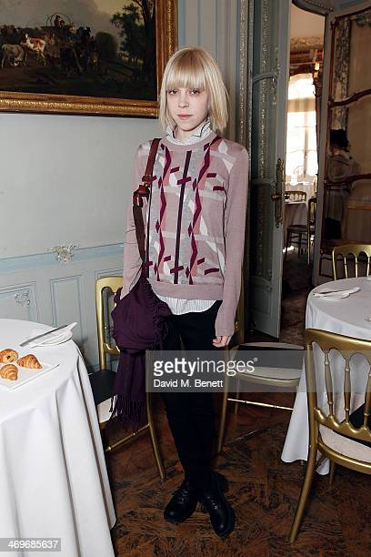 Antonia CampbellHughes attends the Pringle of Scotland Autumn/Winter presentation at The Savile Club on February 16 2014 in London England