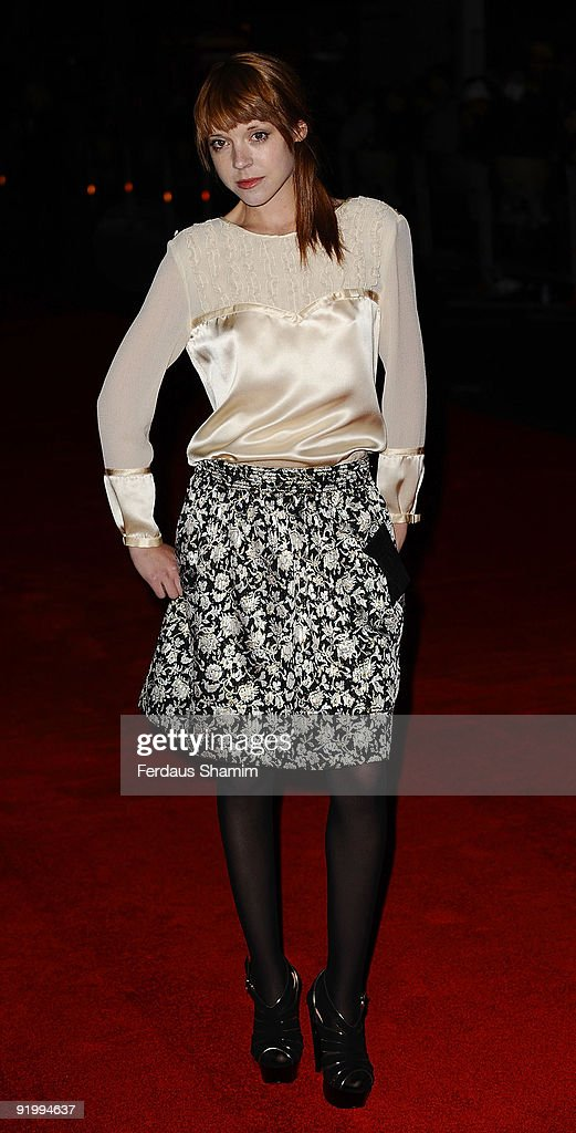 Antonia Campbell-Hughes attends the screening of 'Bright Star' during The Times BFI London Film Festival at Odeon Leicester Square on October 19, 2009 in London, England.