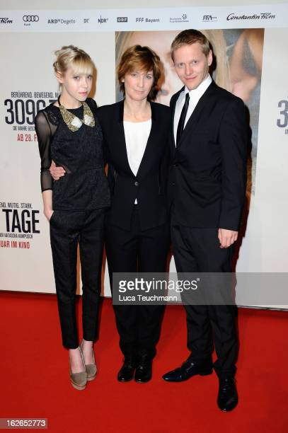 Antonia CampbellHughes director Sherry Hormann and Thure Lindhardt attend the '3096 Tage' World Premiere at Cineplexx Wienerberg on February 25 2013...