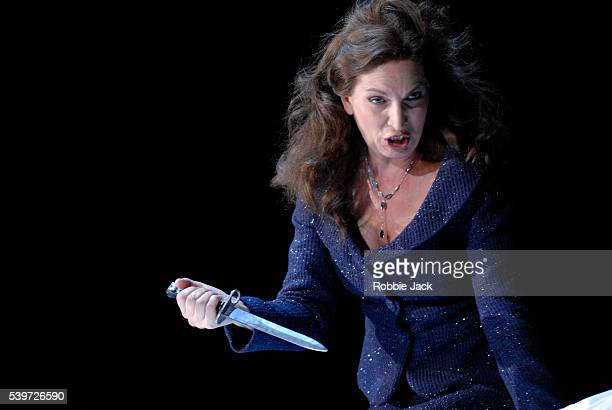 """Antonia Cifrone performs in Opera North's production of """"Macbeth"""" at Leeds Grand Theatre in Leeds."""