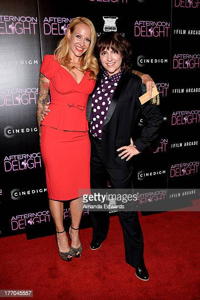 Antonia Crane and director Jill Soloway arrive at the Los Angeles premiere of 'Afternoon Delight' at ArcLight Hollywood on August 19 2013 in...