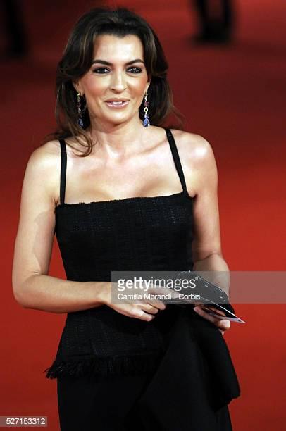"""Antonia De Mita attend the premiere of """"L'uomo che ama"""" during the 2008 Rome Film Festival."""