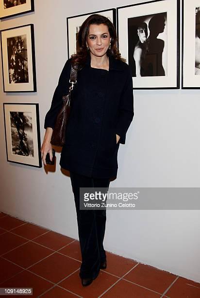"""Antonia De Mita attends the """"Percorso Di Lavoro"""" photography exhibition cocktail party held at Chiostro Del Bramante on February 15, 2011 in Rome,..."""