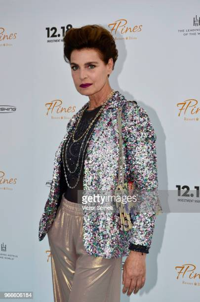 Antonia Dell' Atte attends Seven Pines Resort Ibiza Opening on June 2 2018 in Ibiza Spain