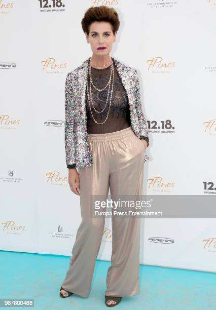 Antonia Dell' Atte attends the opening of the hotel 7 Pines Resort on June 2, 2018 in Ibiza, Spain.