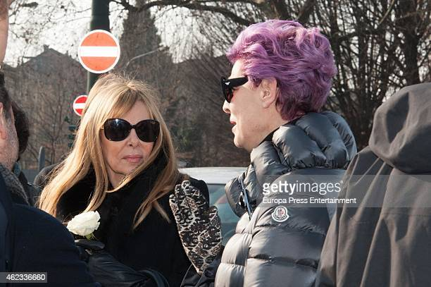 Antonia DellAtte and Ana Obregon attend the funeral service for Princess Sandra Torlonia grand daughter of King Alfonso XIII of Spain on January 08...