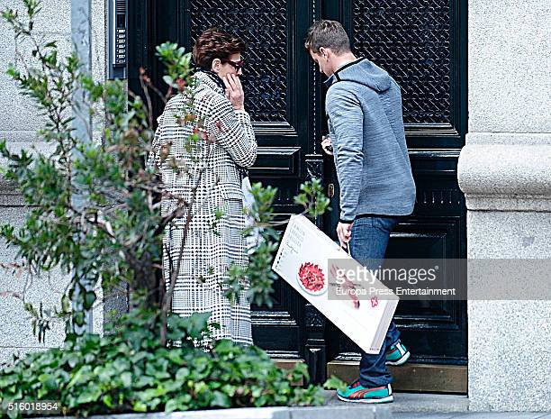 Antonia Dell'Atte and Clemente Lequio are seen on February 19 2016 in Madrid Spain