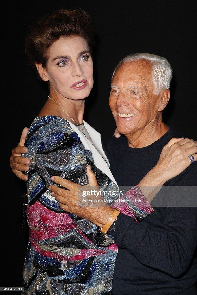 Giorgio Armani - Front Row - Milan Fashion Week  SS16 : Photo d'actualité