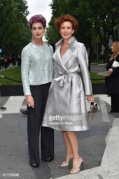 Antonia Dell'Atte and Lucrezia Lante Della Rovere attend the Giorgio Armani 40th Anniversary Silos Opening And Cocktail Reception on April 30 2015 in...