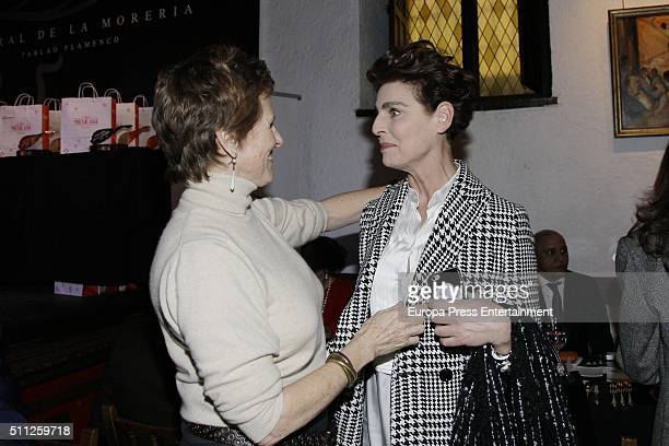 Antonia Dell'Atte and Mercedes Mila attend the 'Pata Negra' Awards 2016 on February 18 2016 in Madrid Spain