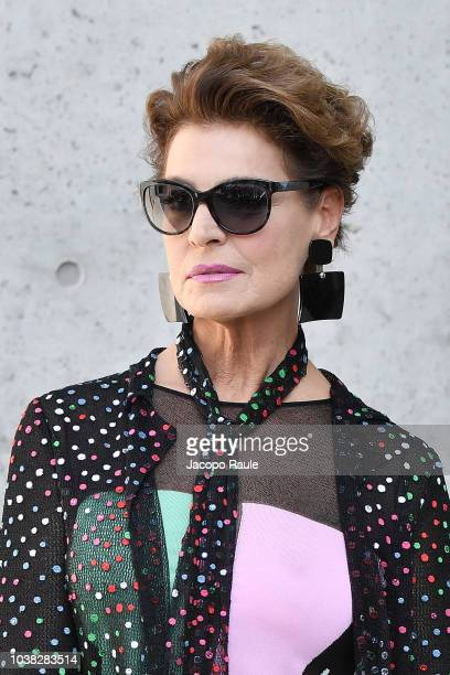Antonia Dell'Atte arrives at the Giorgio Armani show during Milan Fashion Week Spring/Summer 2019 on September 23 2018 in Milan Italy