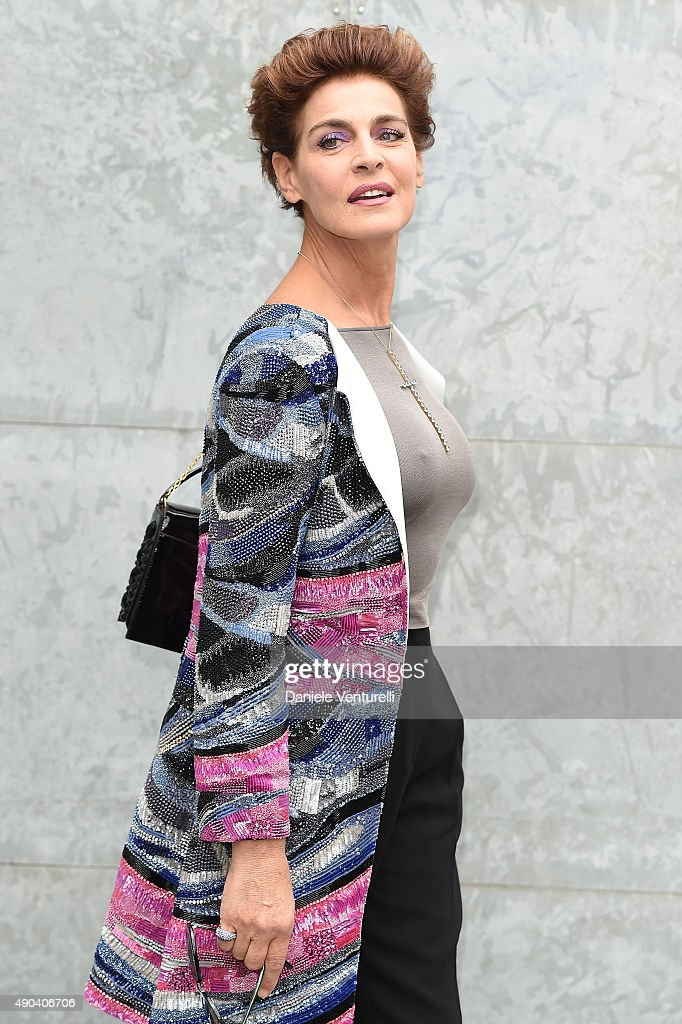 Giorgio Armani - Arrivals - Milan Fashion Week SS16