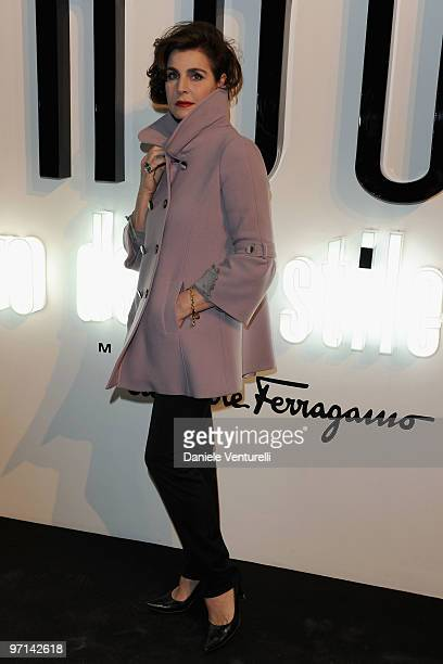 Antonia Dell'Atte attends Greta Garbo The Mystery Of Style opening exhibition during Milan Fashion Week Womenswear A/W 2010 on February 27 2010 in...