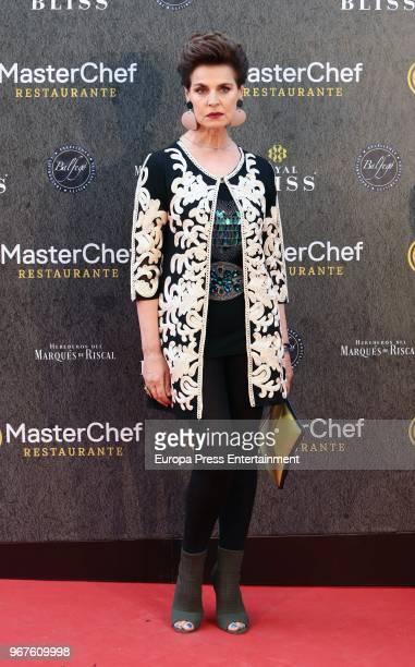 Antonia Dell'Atte attends 'Masterchef' Restaurant opening on June 4, 2018 in Madrid, Spain.
