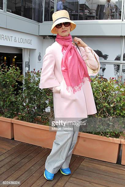 Antonia Dell'Atte attends the Barcelona Open Banc Sabadell, 64th Conde de Godo Trophy at Real Club de Tenis Barcelona on April 19, 2016 in Barcelona,...