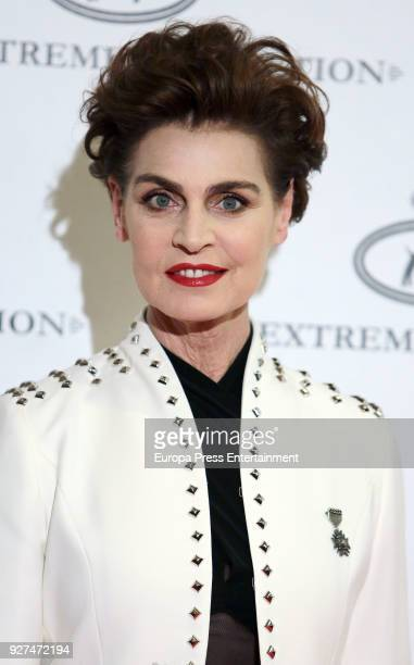 Antonia Dell'Atte attends 'The Extreme Collection' fashion show at Wellington Hotel on March 2 2018 in Madrid Spain