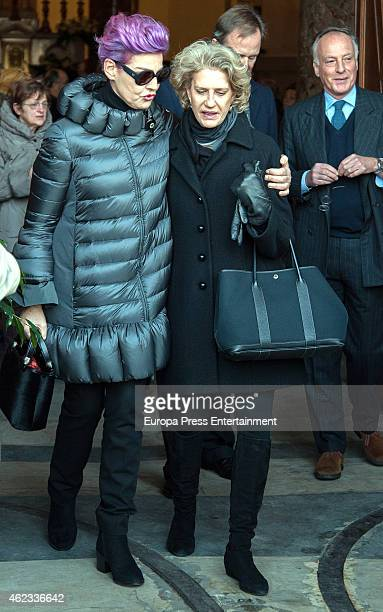 Antonia DellAtte attends the funeral service for Princess Sandra Torlonia grand daughter of King Alfonso XIII of Spain on January 08 2015 in Turin...
