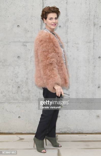 Antonia Dell'Atte attends the Giorgio Armani show during Milan Fashion Week Fall/Winter 2018/19 on February 24 2018 in Milan Italy