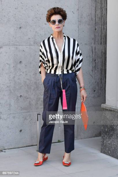Antonia Dell'Atte attends the Giorgio Armani show during Milan Men's Fashion Week Spring/Summer 2018 on June 19 2017 in Milan Italy
